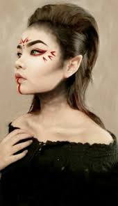 this make up remind me of a anese dragon