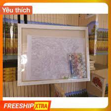 Tranh tô màu theo số sơn dầu số hóa DIY Painting (40*50cm) có khung chính  hãng 205,850đ