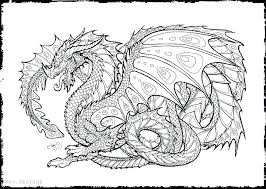 Printable Coloring Pictures Of Dragons Free Adult Coloring Pages