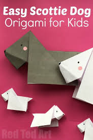 article by red ted art scottie dog origami a sweet beginner origami activity great for a pet unit