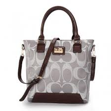Coach Legacy Tanner In Monogram Small Grey Crossbody Bags BUJ