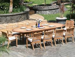 11 piece grade a teak dining set large oval table and stacking arm chairs review