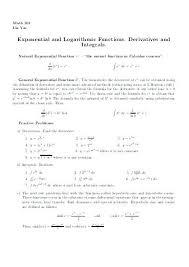 Derivatives Integrals Math 3 Common Derivatives And