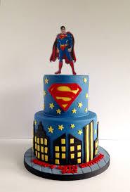 Superman Fondant Cake Design Superman Cake Superhero Birthday Cake Superman Cakes