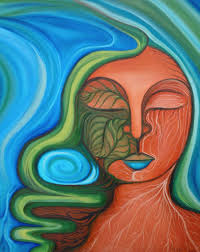 sacred heart of the earth x oil on canvas powerful hand of the tree of life by tanya torres oil on canvas x