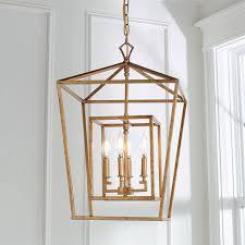 distressed geometric flare lantern