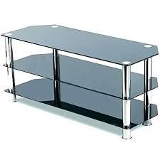ideal 3 shelf glass stand wood black tv kross
