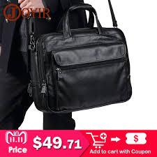 <b>JOYIR</b> Luxury <b>Genuine Leather Men</b> Briefcases Casual Business ...