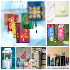 over 25 milk carton craft ideas
