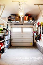 Tuck-up-and-away Shelving in the Garage
