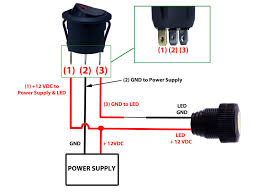 v switch wiring diagram v image wiring diagram round rocker switch 12v led prewired in blue red green