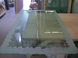 glass table abstract design iceberg edge dining table