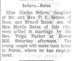 Gladys Sellers and Ernest Bates - wedding - Newspapers.com