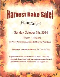 harvest bake welcome to saint peter n apostolic church bake flyer