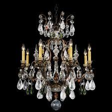 renaissance rock 8 light candle style chandelier