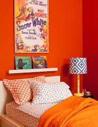 Orange Color Bedroom Decorating With Orange Sunset