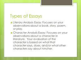 types of essay in literature bibtex thesis style types of essay in literature