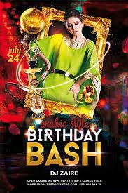 Birthday Flyers Birthday Bash Psd Free Flyer Template Download Flyer