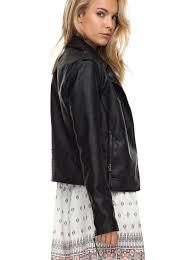 1 midnight ride faux leather biker jacket erjjk03178 roxy