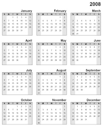 free year calendar 2015