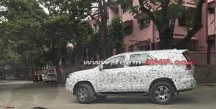 New Gen Toyota Fortuner caught testing in India -