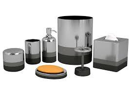 Gray Bathroom Accessories Set Bathroom Decor