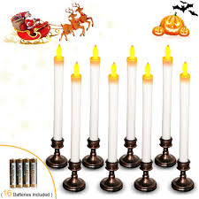 Battery Operated Window Lights Window Candles Led Window Lights Candle Lights With Battery Operated Aged Bronze Base 11 6 Inches Tall Amber Yellow
