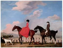 george stubbs painting john and sophia musters riding at colwick hall by george stubbs