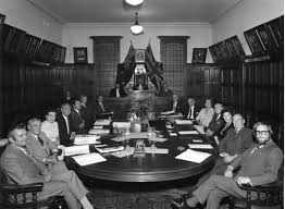 Photograph - Black and White, City of Kew Councillors at the last Meeting  in the Kew Town Hall, Walpole Street