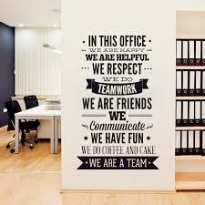 2016 new fashion quotes wall sticker office rules vinyl decals we are a team increase team cohesion 3d decal office decor