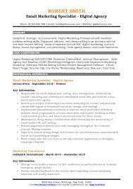 How To Email A Resume Custom Email Marketing Specialist Resume Samples QwikResume