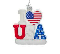 I Love Usa Als Weihnachtsbaumschmuck