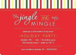 Holiday Party Invitation Template Microsoft Word Or Holiday