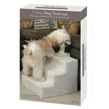 pet steps with fleece cover 3 step
