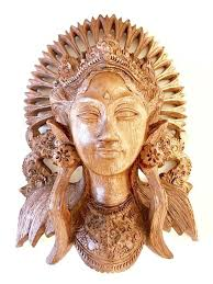 on bali wood carving wall art with beautiful woman wood carving sculpture