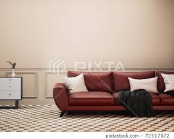 living room interior design red