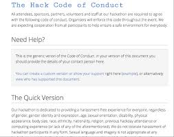 The Hack Code Of Conduct