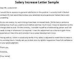 Requesting A Salary Increase Salary Increase Letter Sample