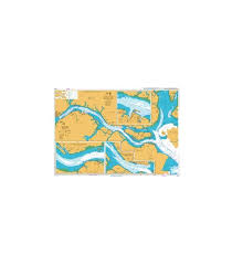 British Admiralty Nautical Chart 4044 Johor Strait Eastern Part