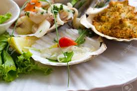 Seafood Entrees Stock Photo, Picture ...