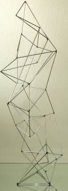 best ideas about geometric sculpture glass cube modern abstract wire geometric sculpture signed corey ellis eames c jere chrome