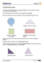 dimensional shapes