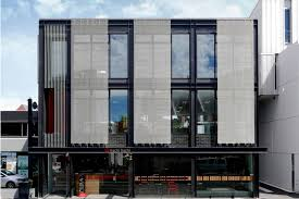 office building facades. Excellent Office Building Facades Lighting Set With View E