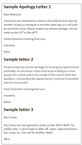 Apologize Sample Letters Apology Letter Sample Apologize For Missing An Appointment