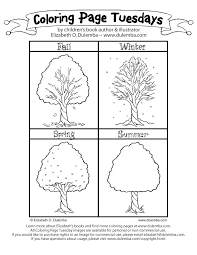 seasons coloring page season pages 7 best images of 4 printable four tree and shee