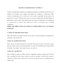 Breach Of Employment Contract Gorgeous Nature Of Employment Contract MoCU University