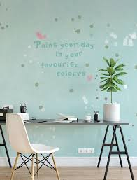 Fotobehang Turquoise Met Stippen Paint Your Day