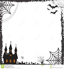 Halloween Template Halloween Square Frame For Text With Cobweb Bat Castle Template