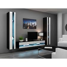 tv rooms furniture. JUSThome Set Vigo N III Living Room Furniture - Wall Unit With Tv Stand Black Rooms