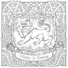 Game Of Thrones Coloring Pages At Getdrawingscom Free For